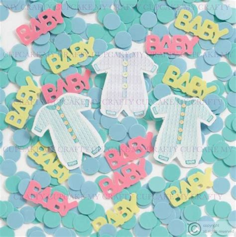 Confetti Decorations by New Baby Or Christening Table Confetti Decoration Boy Or