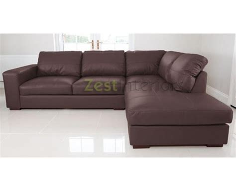 large leather corner sofas uk venice right hand corner sofa brown faux leather w chaise