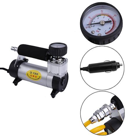Mini Heavy Duty Air Compressor Portable 12v 140psi Auto Tire Air portable air compressor kit mini portable dc12v multi use