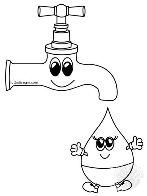 disegno rubinetto rubinetto con goccia d acqua da colorare tuttodisegni