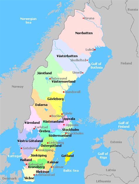 Search Sweden Opinions On Counties Of Sweden