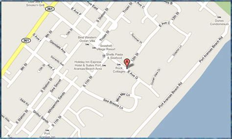 map of port aransas texas map of port aransas tx hotels pictures to pin on pinsdaddy