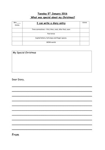 diary writing template ks1 diary template by vt216 teaching resources tes