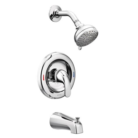 moen adler 1 handle 4 spray tub and shower faucet with