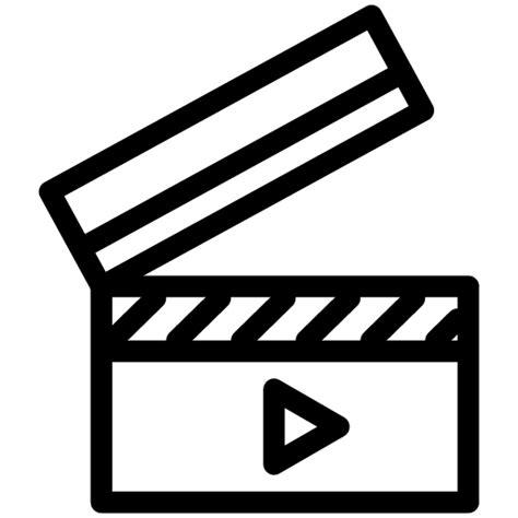 filmklappe emoji film icon line iconset iconsmind