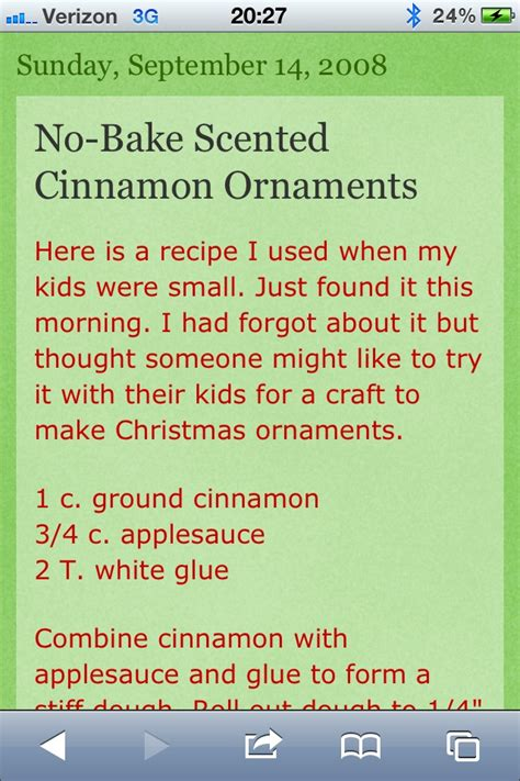 no bake cinnamon ornaments arts n crafts pinterest