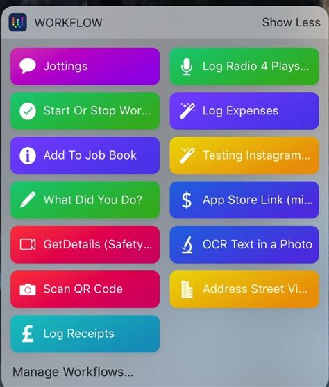 workflow app iphone use workflow 1 7 for iphone to quickly save notes and images