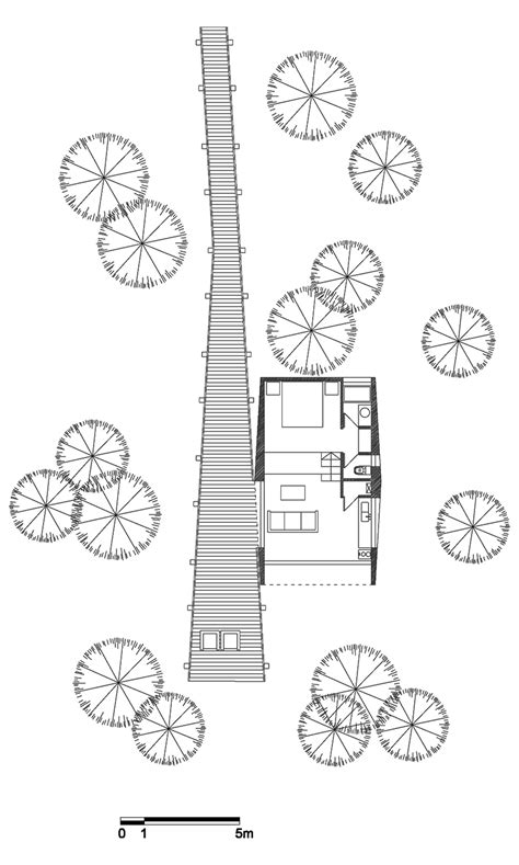 tree floor plan modern tree house in curacav 237 chile