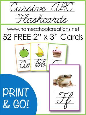 printable cursive alphabet flash cards cursive abc flashcards and posters free printables