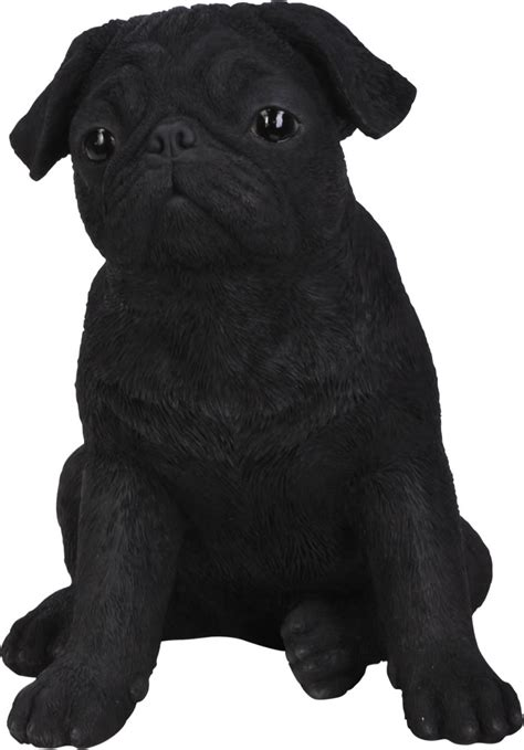 pug ornaments black pug resin garden ornament 163 29 24 garden4less uk shop