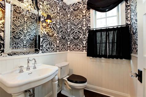 tremendous black and white damask bathroom set decorating