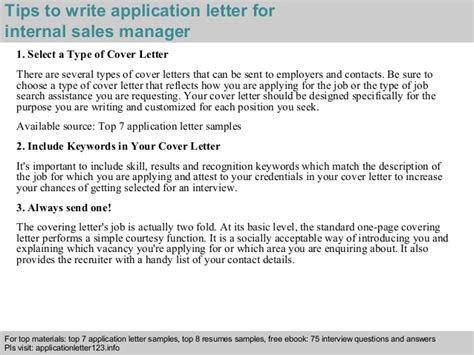 sales manager application letter