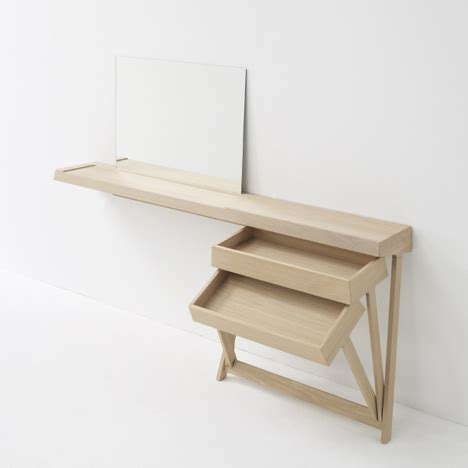 stylish curved minimalist desk digsdigs a dressing table and a desk with cool hinged drawers