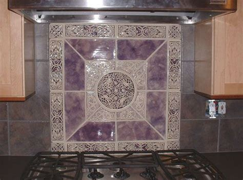 purple kitchen backsplash purple tile home furnishings color palettes