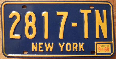 Ny Vanity Plates by File New York 1969 License Plate Flickr Woody1778a Jpg