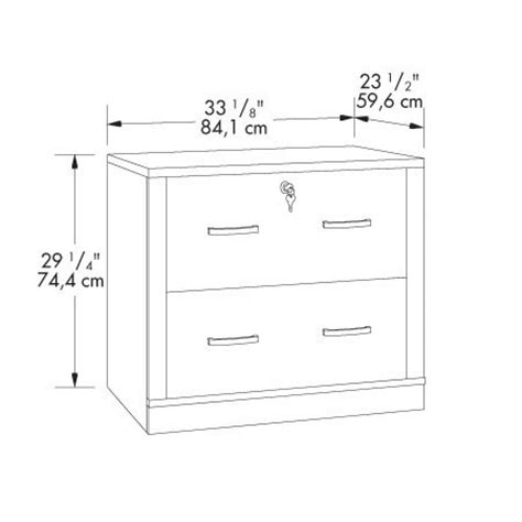 standard lateral file cabinet sizes