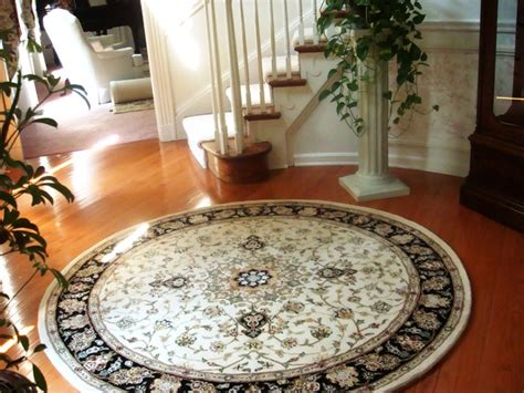 rug  curved staircase traditional entry philadelphia