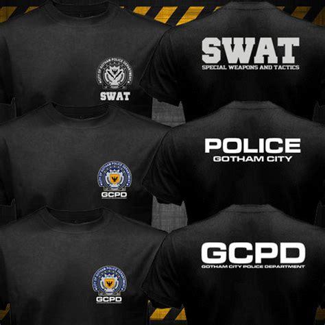 Tshirtkaosbaju Swat Gotham City new batman gotham city department swat gcpd logo t shirt ebay