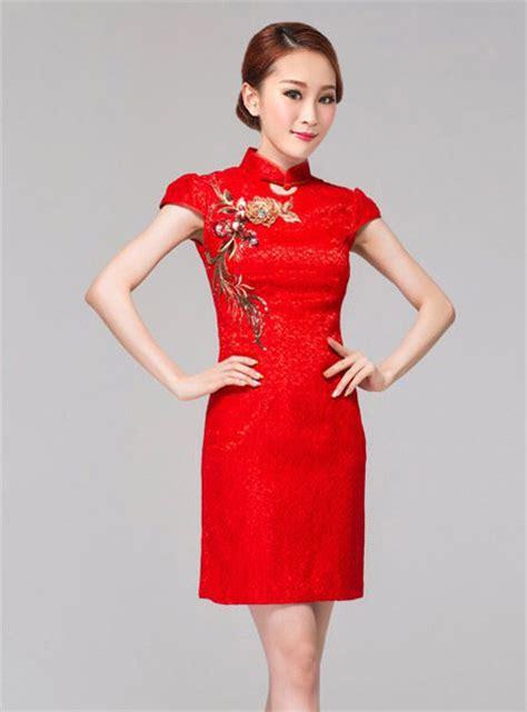 Mutan Cheongsam Dress Cina Imlek Merah baju imlek wanita merah modern terbaru model terbaru