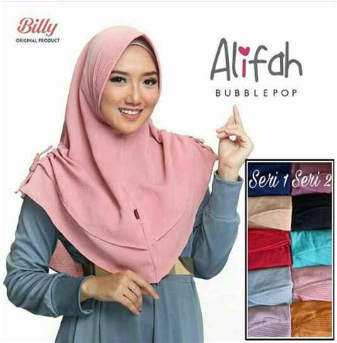 Jilbab Instan Pet Jilbab Instan Pet Buble Pop Alifah Merk Billy Dijamin Asli