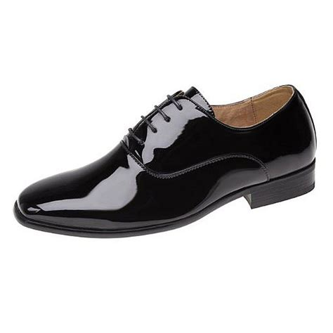 goor smart shiny patent leather lined formal shoes boys