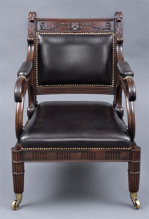 regency armchair antique library chairs english regency mahogany