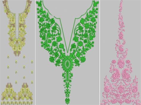u design embroidery embroidered neckline designs 3d panels design