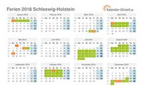 Kalender 2018 Ferien Feiertage Schleswig Holstein Ferien Schleswig Holstein 2018 Ferienkalender Zum Ausdrucken
