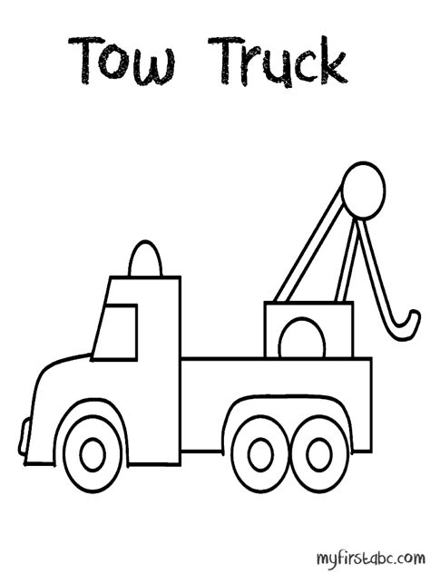 coloring page tow truck tow trucks coloring pages coloring home