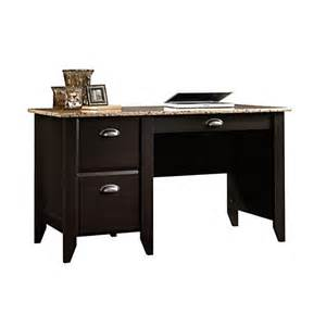 Office Depot Desks Sale Sauder Samber Desk 29 1 2 Quot H X 53 1 8 Quot W X 23 1 2 Quot D Granite Jamocha Wood Sku 549902 Price