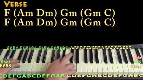 merry christmas happy holidays nsync piano lesson chord chart   major youtube