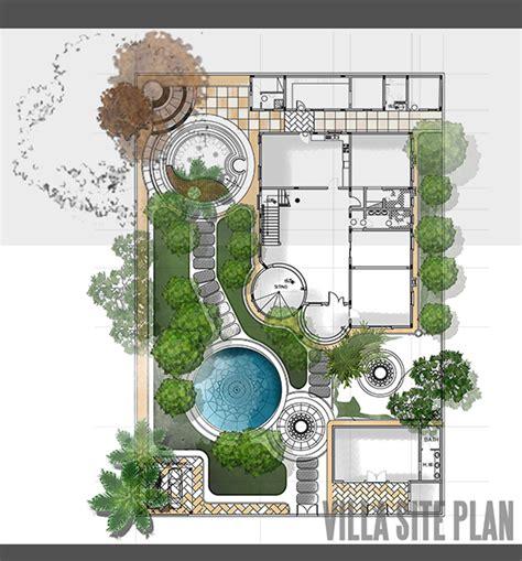site plan design villa site plan design on behance