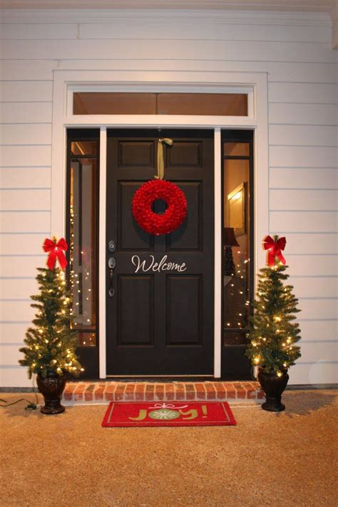 red door home decor outdoor christmas decorations for a livelier and more