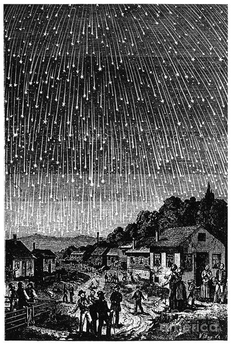 1833 Meteor Shower by Meteor Shower 1833 Photograph