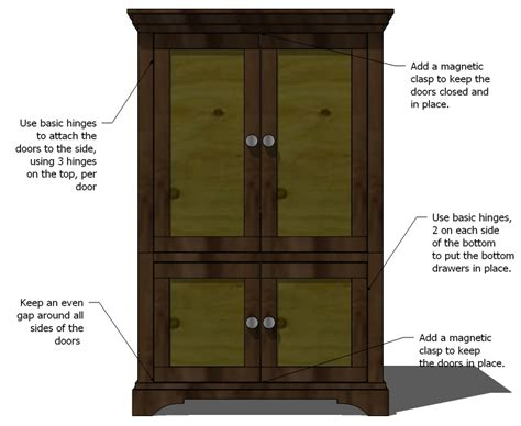 how to build an armoire woodwork build an armoire closet plans pdf download free