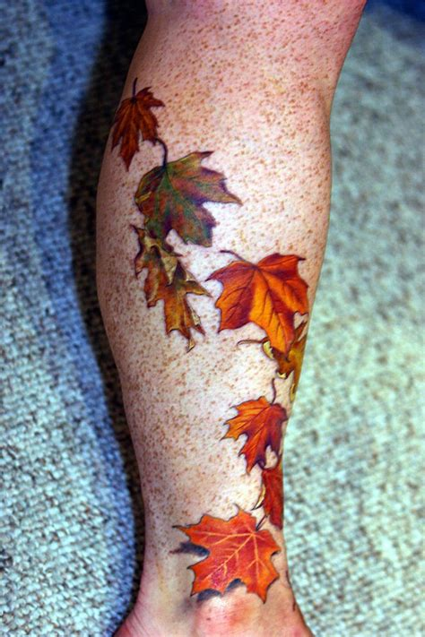 tattoo leaf designs the gallery for gt fall leaves