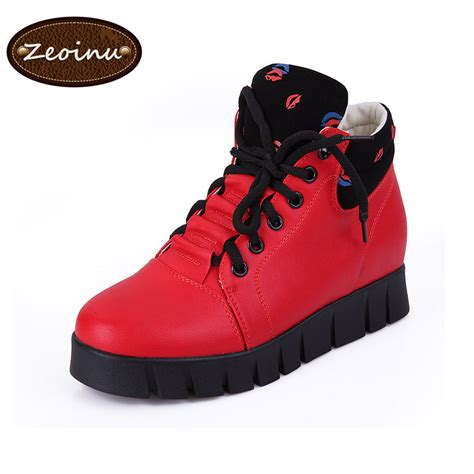 winter sneakers fashion snow boots genuine leather shoe plateform