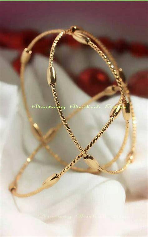 Perhiasan Set Mewah Xuping Synthetic Cubic Zircon jual gelang bangles keroncong import set isi 3 perak lapis emas cx07 bintang berkah store