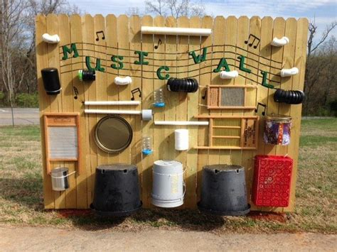 How to build an outdoor musical wall for kids DIY