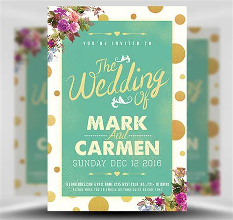 wedding flyer the wedding flyer template flyerheroes