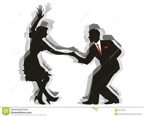 swing dance couple swing cartoons illustrations vector stock images