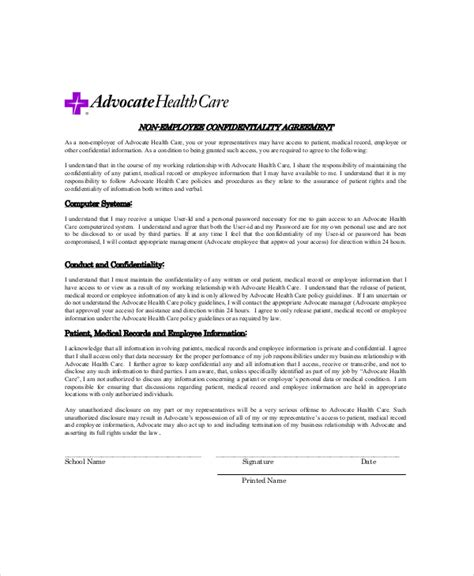 confidentiality policy template customer confidentiality agreement template sle form