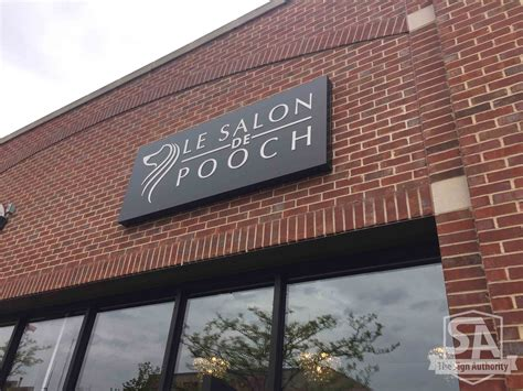 Business Signs Outdoor Lighted New Business Signage For Le Salon De Pooch In Wheaton Il