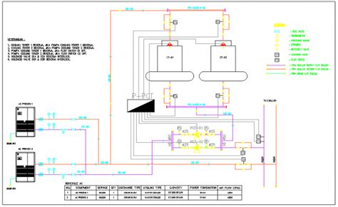 cooling tower system diagram ac and cooling tower schematic diagram