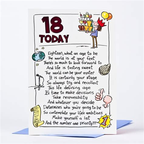 18th Birthday Cards 18th Birthday Card Humprous 18 Today Only 89p