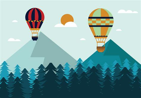illustrator tutorial hot air balloon hot air balloon vector illustration download free vector