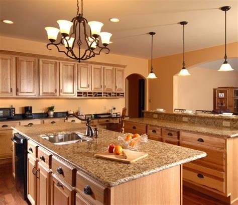 interesting oak cabinets with granite countertops marble