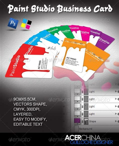 painting business card template psd 106 best print templates images on print