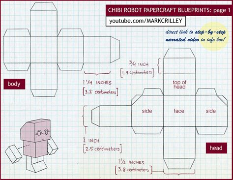 How To Make A Robot Out Of Paper - how to make a paper craft chibi robot atomic moo