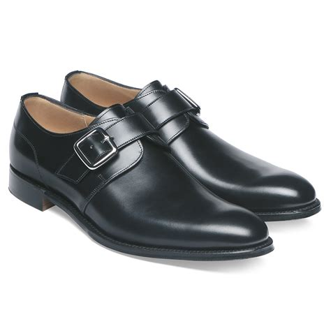 buckle shoes cheaney moorgate s black leather monk shoe